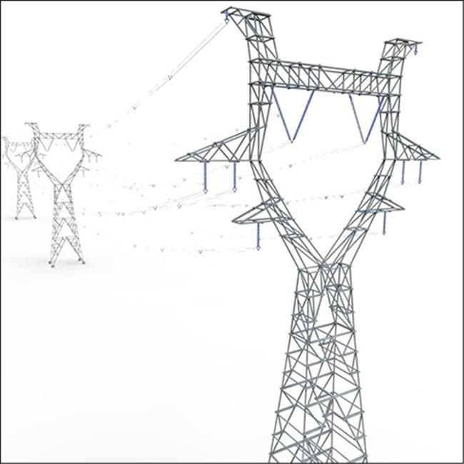 电线杆 高压电线杆 Modular Powerlines 3D Model