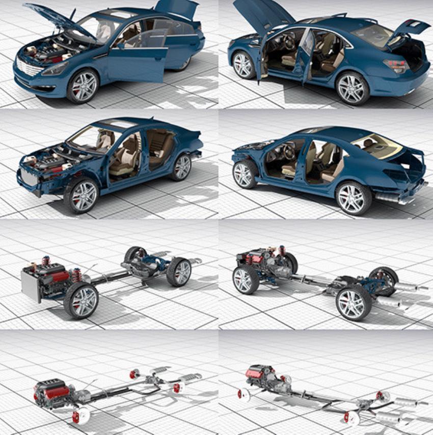 车 Dosch 3D - Car Details 2015