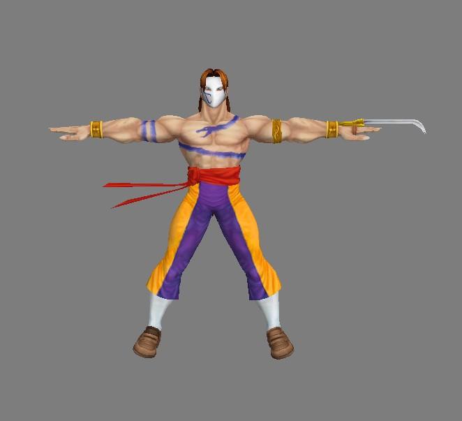 铁面 忍者《街霸 4》爪子手BLR-max9 3DMAX