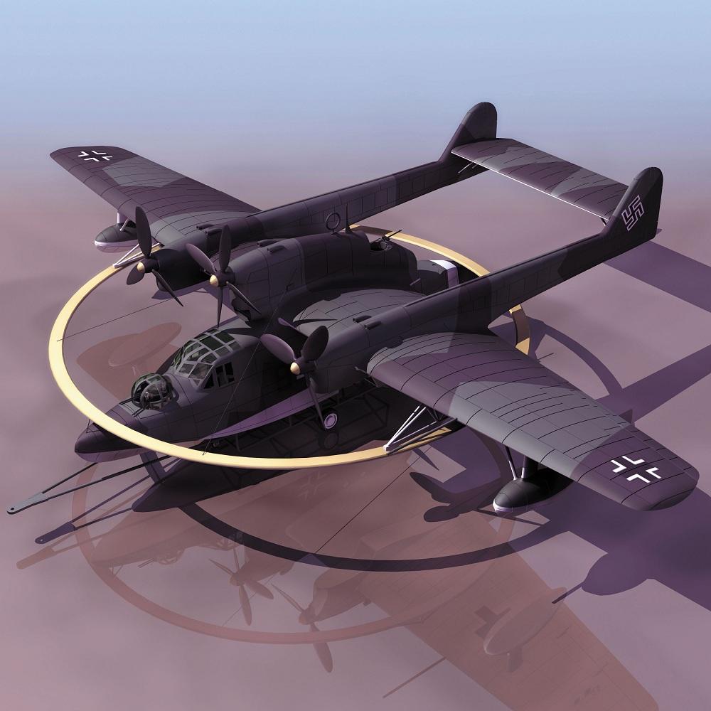 飞机3d模型系列 19-20世纪飞机历史博物馆 bv138水上侦察机