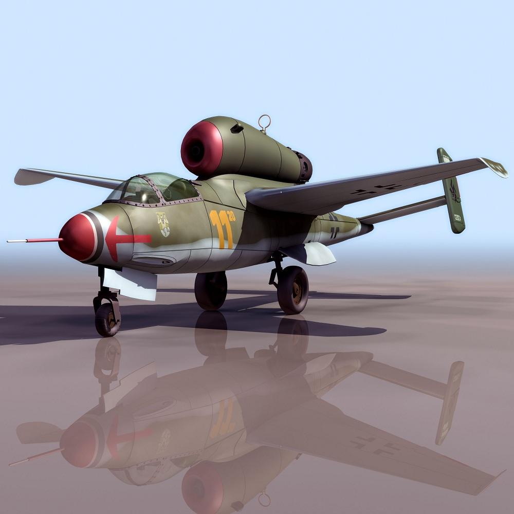 飞机3d模型系列 19-20世纪飞机历史博物馆 he162