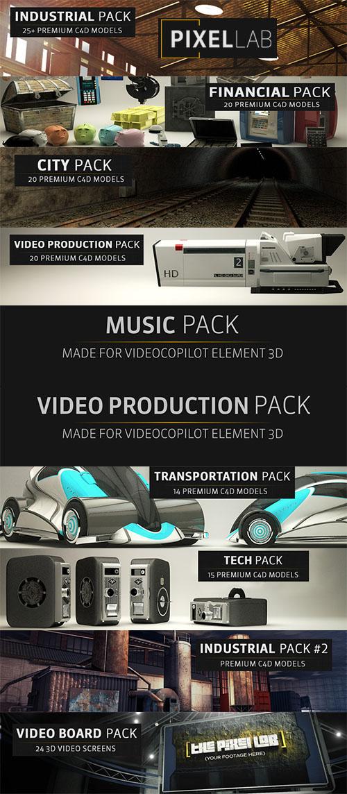The Pixel 3D Models Lab Complete Packs像素3D模型实验室完整包