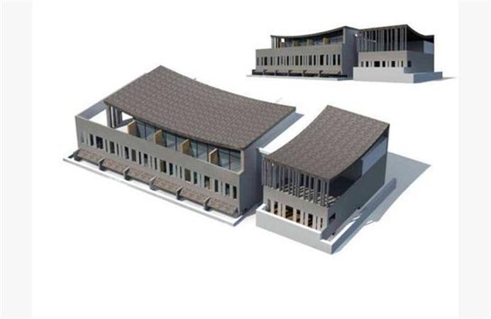工厂厂房 建筑外表