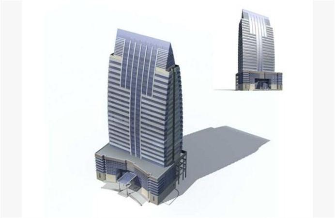 公司大楼卡通素材