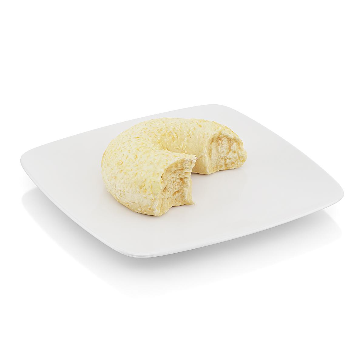 精美食物  半个面包圈