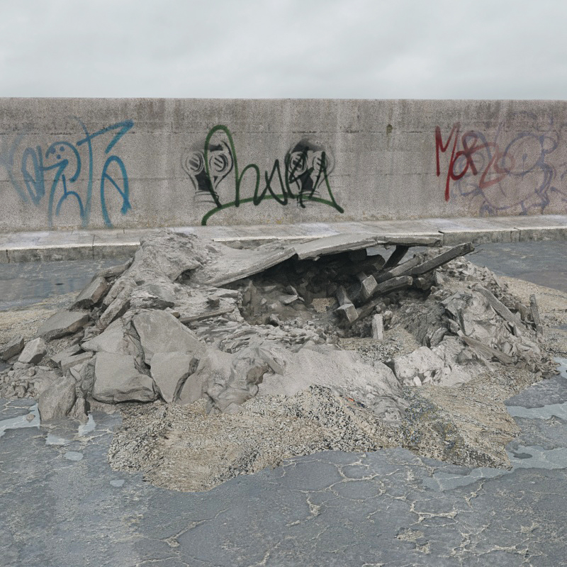 废弃建筑物残骸