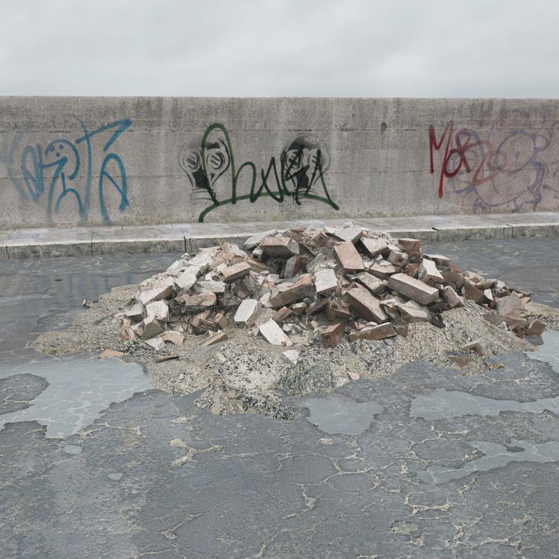 建筑废料 板砖