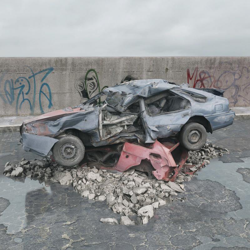 废弃汽车 毁损汽车残骸