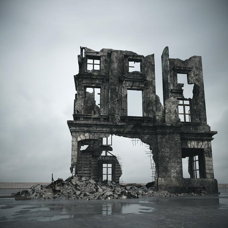废弃小洋楼