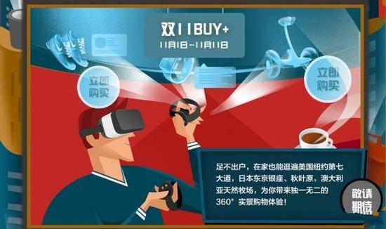 剁手用不着双手!天猫双11将首推VR会场Buy+频道